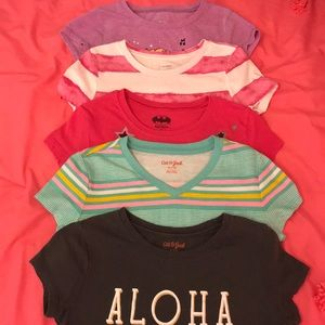 Bundle of 5 random Name Brand girls tshirts size 7